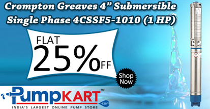 "Buy Crompton Greaves 4"" Submersible Single Phase 4CSSF5-1010 (1HP) 
