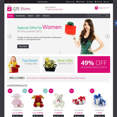 Gift Store PrestaShop Theme | Prestashop Theme Download | Best Prestashop Themes | Scoop.it