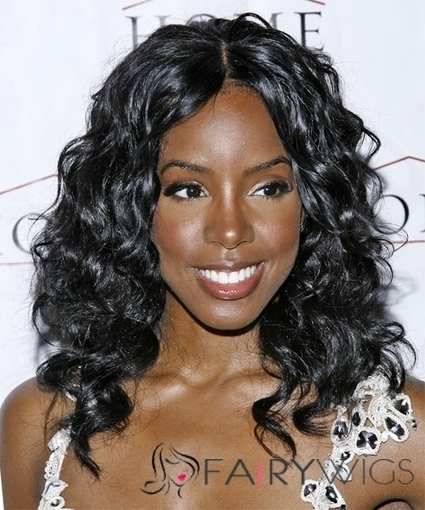 16 Inches Black Wavy Lace Front 100% Indian Remy Hair : fairywigs.com | African American Wigs | Scoop.it