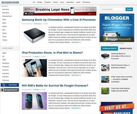 RoadRunner Blogger Template « Bloggertheme9 | Blogger themes | Scoop.it