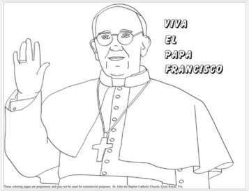 Coloring pages of Pope Francis | Resources for Catholic Faith Education | Scoop.it
