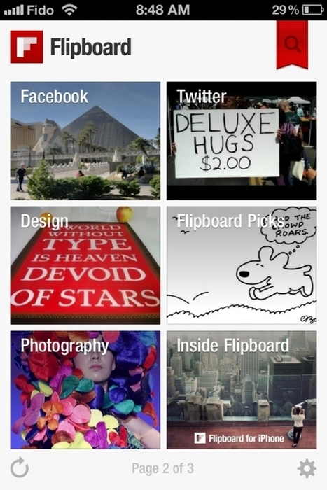 Hands on with Flipboard for iPhone: Small screen success | An Eye on New Media | Scoop.it