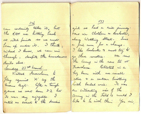 London War Diary: Sunday 23rd March 1941   London War Diary. Original written pages. 1940   Scoop.it