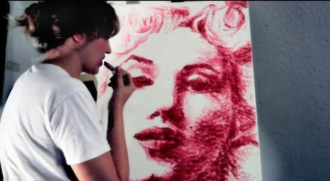 El arte de besar: conoce a la artista que pinta con besos | Planetaurbe | TUL | Scoop.it