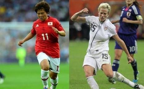 Football féminin: Ohno et Rapinoe, les Beckham de l'OL | Veille sport féminin | Scoop.it