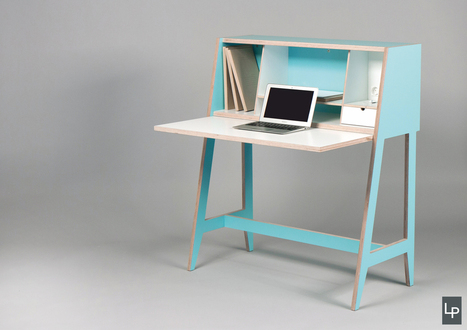 A Wired Desk That's Built Into A Cabinet - Design Milk   develop, research, design, create   Scoop.it