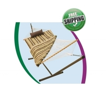 COTTON ROPE HAMMOCK WITH HAMMOCK STAND, PAD & PILLOW | Hammocks in India | Scoop.it