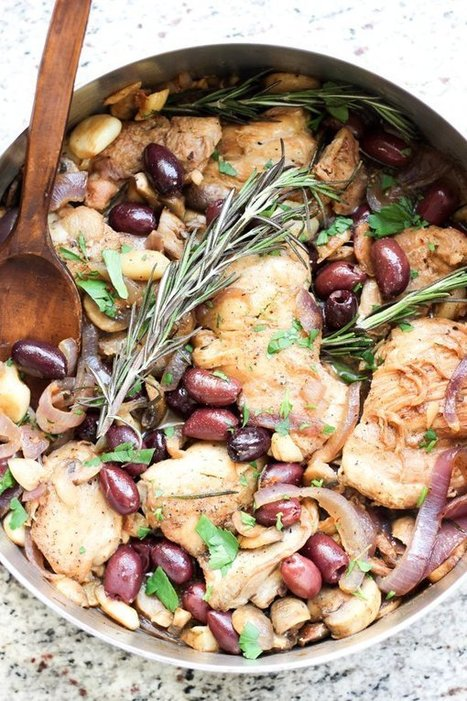 Italian Garlic Chicken Skillet | Le Marche and Food | Scoop.it