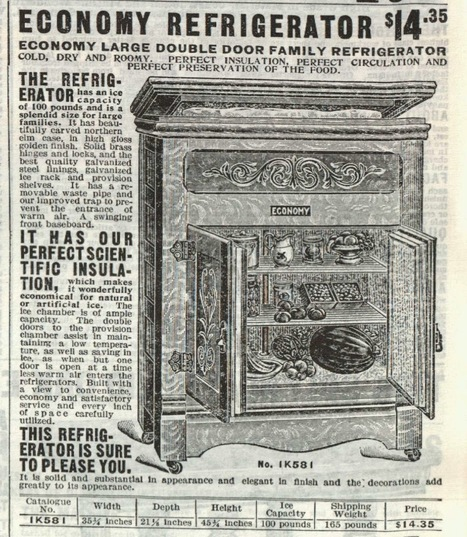 Did You Know? ~ Ads for 1908 Ice Box, Recliner, and Earrings | History & Romance | Scoop.it