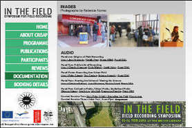 In The Field - International Symposium for Field Recording | DESARTSONNANTS - CRÉATION SONORE ET ENVIRONNEMENT - ENVIRONMENTAL SOUND ART - PAYSAGES ET ECOLOGIE SONORE | Scoop.it