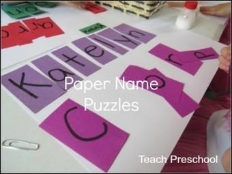 Paper name puzzle for preschool   Teach Preschool   Scoop.it