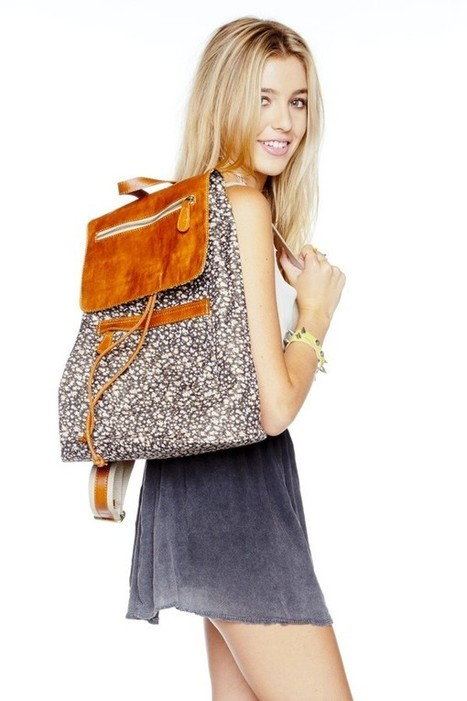 Black floral leather flap backpack | Brandy Melville Accessories | Scoop.it