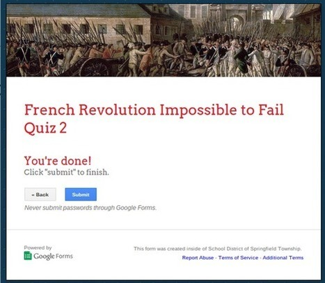 Use the Impossible to Fail Quiz to Give Students Instant Remediation | teaching with technology | Scoop.it