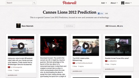 """Cannes Lions 2012 Prediction"" Pinterest collection 