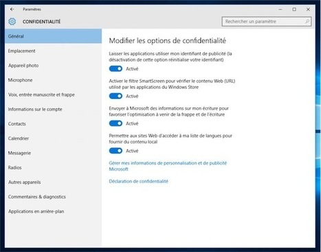 Confidentialité : comment Windows 10 gère votre vie privée | Software | Scoop.it