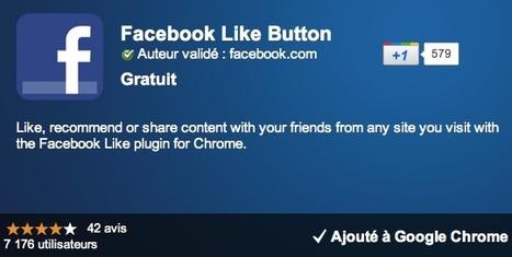 Extension Chrome officielle pour ajouter un bouton J'aime Facebook | SocialWebBusiness | Scoop.it