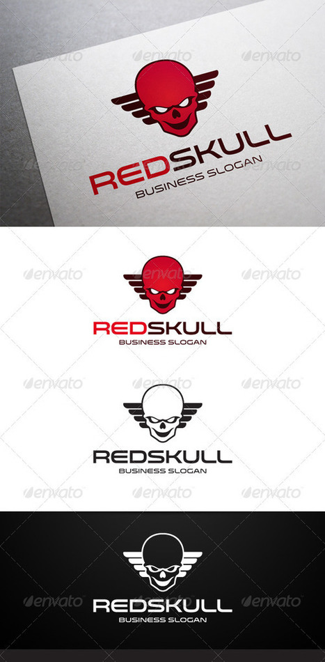 Red Skull Logo (Humans) | GFX Database | Graphics Share | Scoop.it