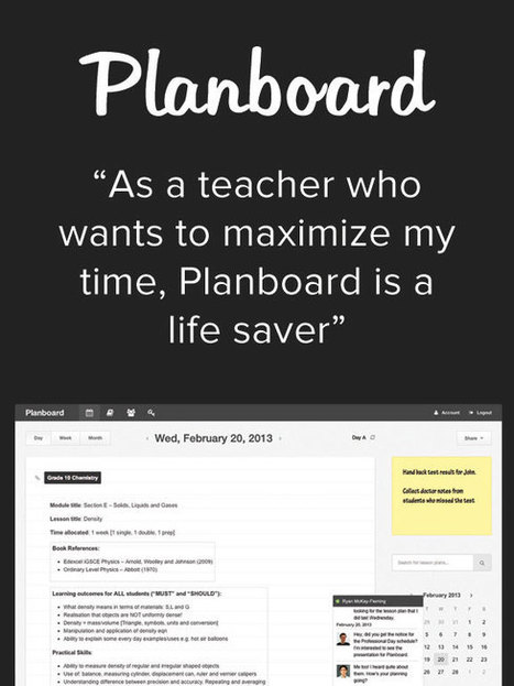 Planboard - Lesson planning made easy for teachers | new ideas and discoveries | Scoop.it