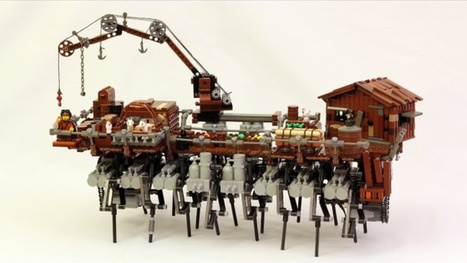 This Walking Lego Steampunk Ship is Terrifying! - Gizmodo | Lego Mindstorms | Scoop.it