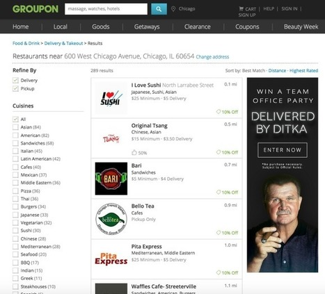 Groupon Launches Its Own Food Delivery Business, Groupon To Go | Location Based Marketing | Scoop.it