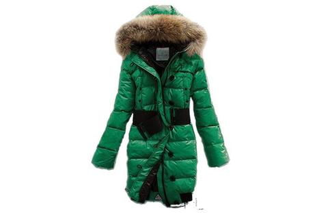 Moncler Women Pop Star Long Down Coat Green | share list | Scoop.it
