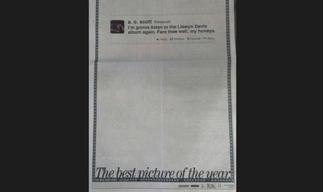 Un simple tweet devient une publicité en pleine page dans le New York Times | Veille media | Scoop.it