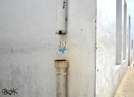 "#Oakoak street art ""tombeeee"" | Street-art Design Grafititi et Gros minet | Scoop.it"