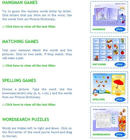 Free online word games for ESL kids | 21st Century Tools for Teaching-People and Learners | Scoop.it