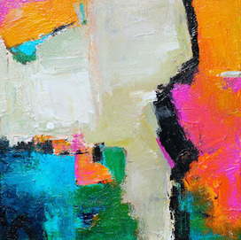 Abstract 'mini' painting, ORIGINAL Contemporary Art by Elizabeth | Contemporary Art hh | Scoop.it