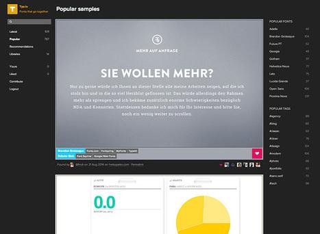 Trouvez les bonnes polices pour vos sites avec Typ.io | Au fil du Web | Scoop.it