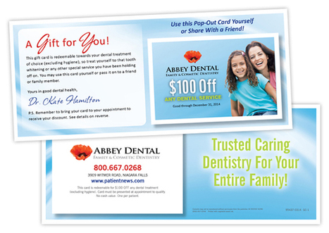 Dental Marketing Ideas: Mail Loyalty Gift Cards with your patient newsletter | Dental Marketing | Scoop.it