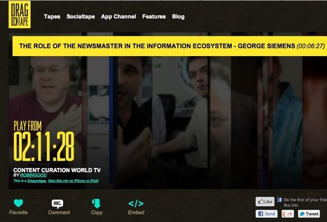Curate Your Own Video Channels and Mixtapes With DragOnTape | A New Society, a new education! | Scoop.it