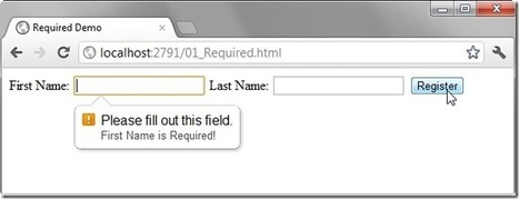 HTML5 Form Validation | Stephen Walther | JavaScript Apis | Scoop.it