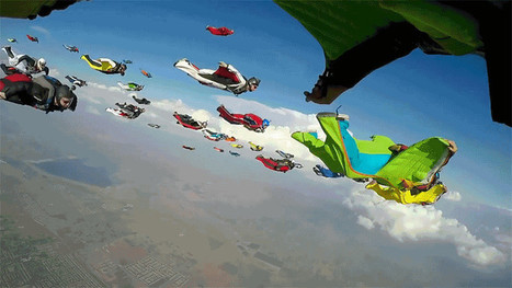 A Flock of 61 Wingsuiters in Flight Looks Like an Airborne Invasion | Heron | Scoop.it