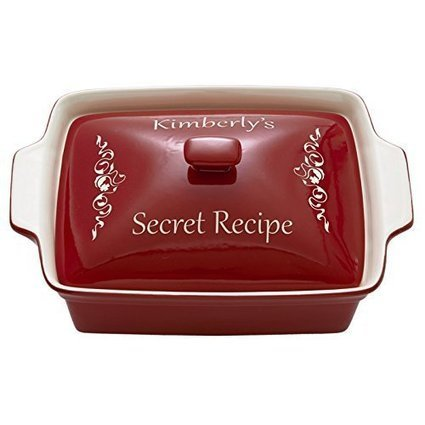Customer Reviews Personalized Rectangle Casserole Dish - Red - Initial | Best Cookware Tools Review | Scoop.it