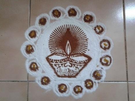 Rangoli designs/Kolam: [S.No 142] Lamp Kolam | artes decorativas | Scoop.it