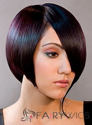 100% Human Hair Brown Short Wigs Full Lace Soft Wigs : fairywigs.com | Lace Wigs | Scoop.it