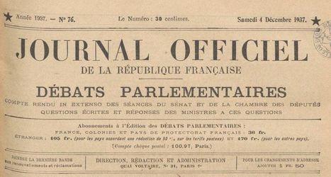 Accéder aux numérisations du Journal officiel de la République française, de 1871 à nos jours   La Boîte à Outils des Historiens   Patrimoine 2.0   Scoop.it