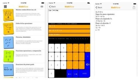 MathNow, aplicación móvil para resolver problemas matemáticos paso a paso | e-learning y aprendizaje para toda la vida | Scoop.it