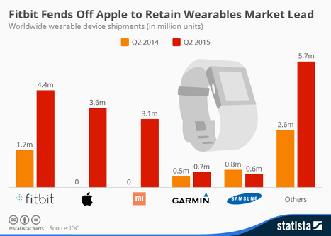 Fitbit Fends Off Apple to Retain Wearables Market Lead | Wearable Tech and the Internet of Things (Iot) | Scoop.it