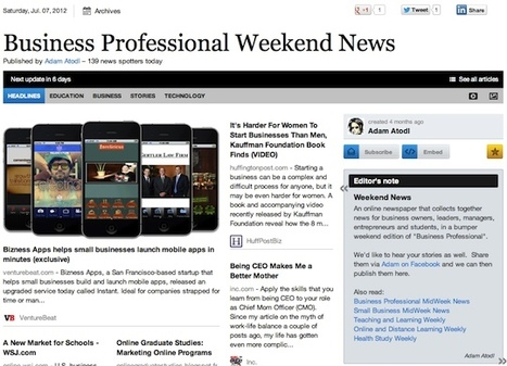 """July 7 - """"Business Professional Weekend News"""" is out 