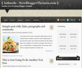 AzSands Blogger Template | New Blogger Themes | Professional ... | Blogger themes | Scoop.it