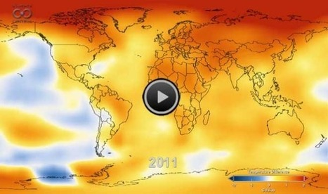 Watch 131 Years of Global Warming in 26 Seconds | Geography Education | Scoop.it