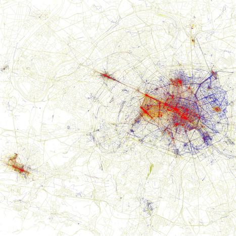 GEOGRAPHIE - Cartes de villes par photographies de touristes ou d'habitants  (La boite verte) | La Longue-vue | Scoop.it