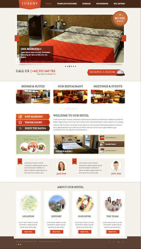 JM Hotel Joomla 2.5 & 3.0 Ready Template | mmmmh | Scoop.it