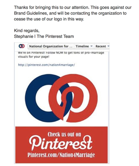 NOM alters Pinterest logo for own promo; Pinterest not happy | Daily Crew | Scoop.it