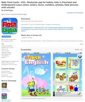 Utah Coalition for Educational Technology (UCET): Free App Today - Baby Flash Cards : 450+ flashcards app for babies, kids in Preschool and Kindergarten! Learn colors, letters, music, numbers, anim... | Educación y TIC | Scoop.it