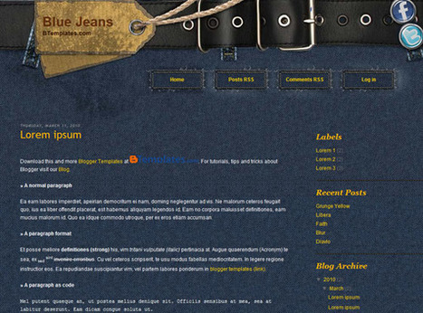 Blue Jeans | Ngoding | Blogger themes | Scoop.it