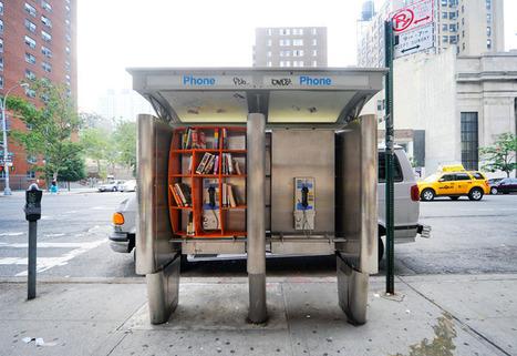 Cabine téléphonique et bibliothèque publique font bon ménage | BiblioLivre | Scoop.it
