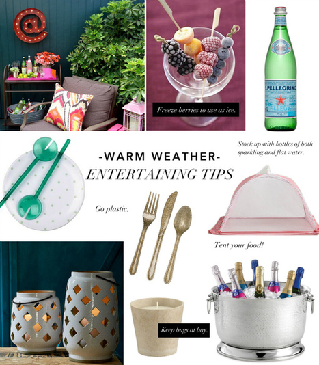 Warm Weather Entertaining Tips | theglitterguide.com | Event Inspiration | Scoop.it